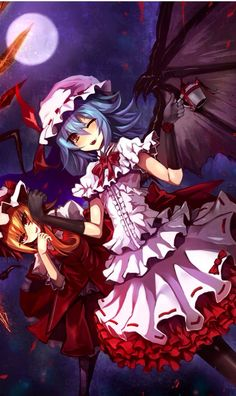 Remilia and Flandre Scarlet