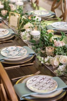 A Whimsical & Elegant Spring Garden Wedding at All-Inclusive Nashville Venue CJ's Off the Square - Modern Mismatched Table Setting, Table Settings, Nashville Wedding Venues, Enchanted Florist, Wedding Flower Arrangements, Wedding Flowers, April Wedding, Wedding Reception, Wedding Tables