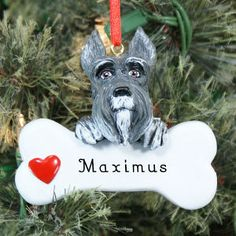 Engraved Schnauzer Ornament #Dogs #PhotoGift #PersonalizedGifts #Gifts #PersonalizedDogGifts #GiftsForYouNow #DogOrnaments #Ornaments Dog Christmas Ornaments, Christmas Dog, Christmas Decorations, Schnauzer Art, Dog Items, Holiday Tree, Love Is Sweet, Schnauzers, Pets