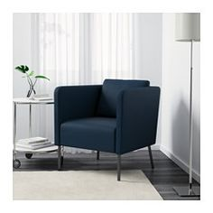 EKERÖ Chair, Skiftebo dark blue - Skiftebo dark blue - IKEA Ikea Yellow, Atlanta Apartments, Beige, Ikea Armchair, Blue Armchair, Couches For Small Spaces, Welcome To My House, Sanft, Living Room Redo