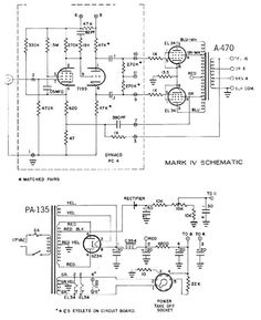 Dynaco dynakit Mark IV Tube Amplifier Schematic and Instructions Manual for Assembly and Operation. Dc Circuit, Circuit Diagram, Electronic Circuit Projects, Electronic Engineering, Diy Guitar Amp, Radios, Electronics Basics, Electronics Projects, Valve Amplifier