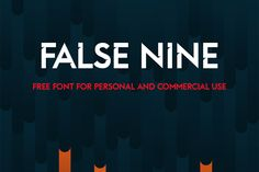 False Nine Free Font Free Fonts Free Graphic Design OTF Resource Typeface Typography