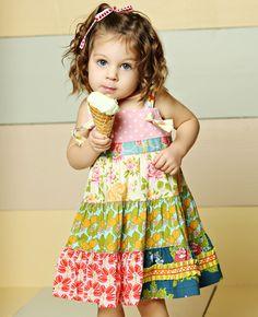 Matilda Jane Clothing M119 TIERED KNOT DRESS #matildajaneclothing #MJCdreamcloset