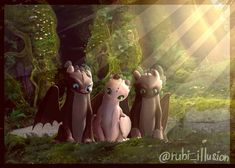 Pouncer, Ruffrunner and Dart! Httyd Dragons, Dreamworks Dragons, Cute Dragons, Dreamworks Animation, Disney And Dreamworks, Disney Kunst, Disney Art, Night Fury Dragon, Dragon Sketch