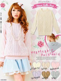 "buyjapanese: "" Heart shaped knit """