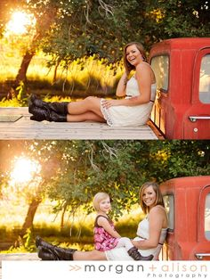>> Beautiful Mom + Daughter // Uintah Basin Family Photographers » Morgan and Alison -- mother and daughter pose -- old truck -- what to wear for portraits -- gorgeous summer outdoor family photo session -- Vernal, Utah