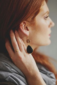 These Black Coal Teardrop Earrings are on sale now! | www.mooreaseal.com