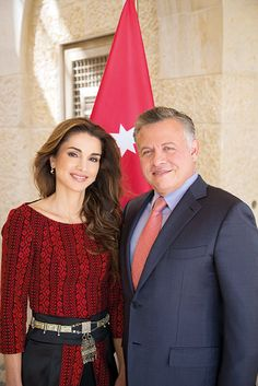 Queen Rania and King Abdullah II of Jordan He leads attacks on IS personally. He rocks and Rules!