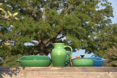 Shot of Le Creuset cookware.