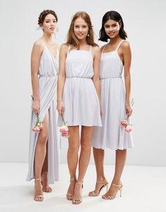 ASOS | ASOS WEDDING Crepe Cross Back Mini Dress at ASOS