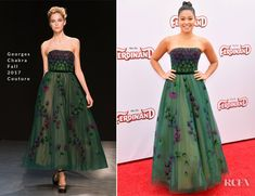 Gina Rodriguez In Georges Chakra Couture – 'Ferdinand' LA Screening