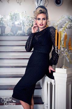Laura Byrnes California Lisa Dress in Black