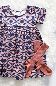 Handmade Aztec Print Comfy Knit Baby Toddler Dress   BohemianBabies on Etsy