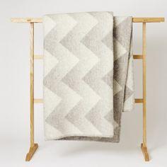 Mjölk : Roros Tweed : Lynild Grey Natural Blanket by Anderssen & Voll - Lynild Grey