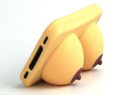 iBoobies iPhone Case  / You will jiggle and wiggle with huge laughs with the all new iBoobies iPhone Case and Stand from Big Mouth Toys. http://thegadgetflow.com/portfolio/iboobies-iphone-case/