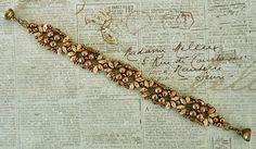 Linda's Crafty Inspirations: Bracelet of the Day: Eclipse Bracelet - Gold & Smoky Topaz Luster