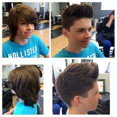 Ryan's new style! Hair by Paola Lugo. Duncan Edward- Progressive European Hair Design in Madison, WI. www.duncanedward.com #duncanedward #boyshair #moderncuts #barber #beforeandafter