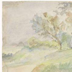 Staande vrouw in een landschap, Jozef Israëls, 1834 - 1911 - Search - Rijksmuseum