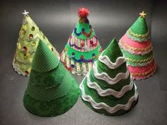 Craft and Other Activities for the Elderly: Make a Cone Christmas Tree - Tutorial!