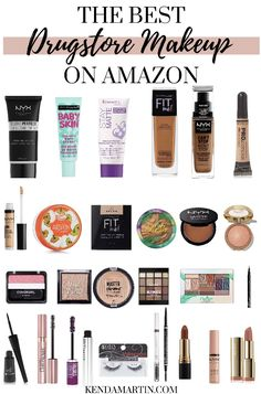 The Best High End Makeup - Holy Grail Products - Colleen Hobson Amazon Beauty Products, Best Makeup Products, Makeup Products For Beginners, Best Eyebrow Products Drugstore, Best Drugstore Primer, Elf Products, Best Drugstore Foundation, Drugstore Makeup Dupes, Beauty Dupes