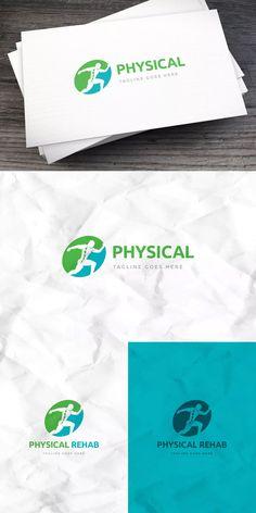 Sport Physical Rehab Logo Template AI, EPS