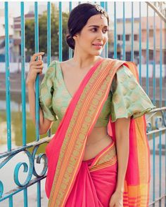 Wear these off-beat blouse designs with a designer saree for your BFF's wedding. We have picked 15 latest saree blouse designs that are ruling the fashion circles just for your Saree Jacket Designs, Sari Blouse Designs, Fancy Blouse Designs, Designer Blouse Patterns, Design Patterns, Blauj Design, Sari Design, Choli Designs, Lehenga Designs