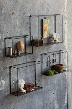 Display your favorite oddities and treasures with our Nesting Wall Shelves. Each…