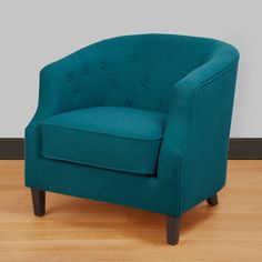 Ansley Peacock Blue Tub Chair - Overstock™ Shopping - Great Deals on Living Room Chairs