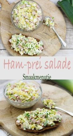 Ham prei salade Ham prei salade recept recipe s+ Ham Salad, Cooking Beets, Healthy Cooking, Healthy Recipes, Cooking Pork, Grilling Recipes, Cooking Recipes, Good Food, Al Dente