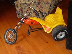 YELLOW TOY 70'S AMF JUNIOR HOT SEAT TRIKE MOTORCYCLE RIDE ON PEDAL CAR BIKE OLD | Toys & Hobbies, Outdoor Toys & Structures, Pedal Cars | eBay!