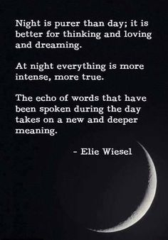 #nighttime ~ Day 52.03 Today I'm grateful for nighttime. And this is a beautiful bit of writing. :)