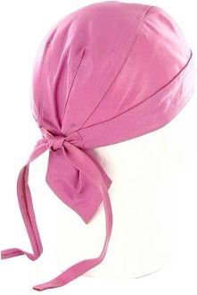 Pink Leather Skull cap Headwrap www.SouthernLeathers.com