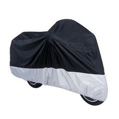 Bike Covers - Wonderoto Black and Silver Color XXL Water Resistant Dustproof Ultra Violet Protective Motorcycle Motorbike Breathable Outdoor Cover -- Check this awesome product by going to the link at the image.