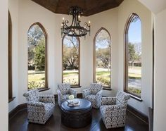 What a cute little nook! I love the windows. A perfect spot for having tea with friends.