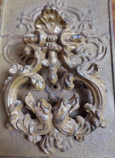 "Vintage Antique Cast Iron Gothic Gargoyles Door Knocker. 8 5/8"" x 6 1/4"""