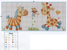 giraffe and zebra cross stitch Baby Cross Stitch Patterns, Cross Stitch For Kids, Cross Stitch Cards, Cross Stitch Borders, Cross Stitch Baby, Cross Stitch Animals, Cross Stitch Designs, Cross Stitching, Cross Stitch Embroidery
