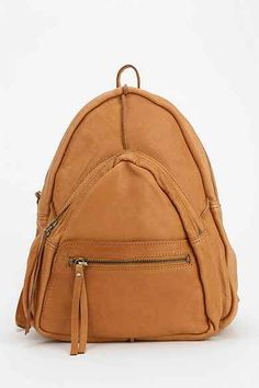 Leather Fleur Triangle Backpack