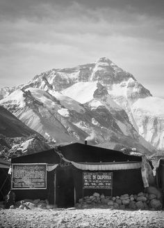 "Hotel California & Mt. Everest at base camp in Tibet ©Douglas MacRae -- For use with Jon Krakauer's ""Into Thin Air"" (non-fiction)"