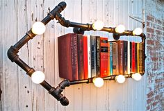 Industrial Pipe Light This Way That Way by stellableudesigns, $329.00