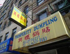 Prosperity Dumpling- cheap delicious dumplings. Depending on the type, 4 dumplings for $1 or $2!!