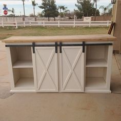 DIY Projects Grandy Sliding Door Console Woodworking Plans by Ana White Furniture Plans, Home Furniture, Repurposed Furniture, Handmade Furniture, Kitchen Storage Furniture, Building Furniture, Furniture Websites, Furniture Dolly, Furniture Movers
