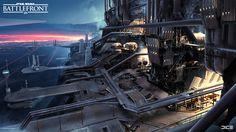 ArtStation - SoroSuub usine Concept Art pour le Star Wars Battlefront Outer Rim DLC. (2015), Anton Grandert