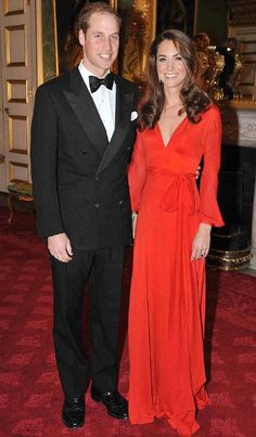 Prince William & Catherine. Power couple. At the 100 Women in Hedge Fund Gala at Clarence House in 2011. The Duchess is wearing a glamorous Beulah London gown.