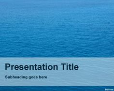 Nautical PowerPoint template is a blue background PowerPoint template with sea photo in the background slide and suitable to be used in presentations for nautical businesses as well as maritime presentations #water #powerpoint