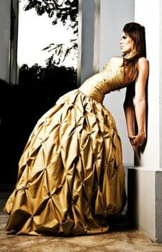 real life beauty and the beast dress?  I'd  totally wear this for my wedding dress!