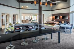 Designed by Faulkner Design Group #clubroom #lobby #amenityspace #faulknerdesigngroup #interiordesign #multifamily #apartmentdesign