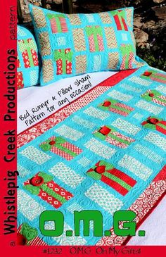 Oh My Gifts - Bed Runner & Pillow Shams pattern on Craftsy.com