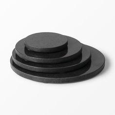 Dekorationsfat Marmor svart 10 cm
