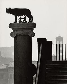 © Herbert List .Statue of the Wolf with Romulus and Remus (Capitoline Hill, Rome).