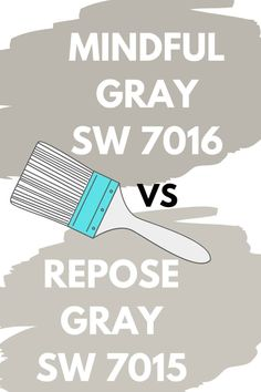 Sherwin Williams Mindful Gray SW 7016 – West Magnolia Charm Find out how Sherwin Williams Mindful Gray SW 7016 -and Sherwin Williams Repose Gray SW 7015 compare. Which gray paint colors is better? Neutral Gray Paint, Light Grey Paint Colors, Paint Colours, Wall Colors, Indoor Paint Colors, Paint Colors For Home, Grey Exterior, Exterior Paint Colors, Amazing Gray Paint